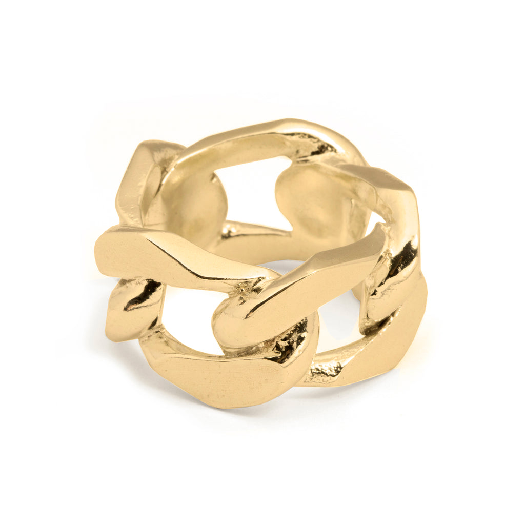 Statement chunky chain Ring