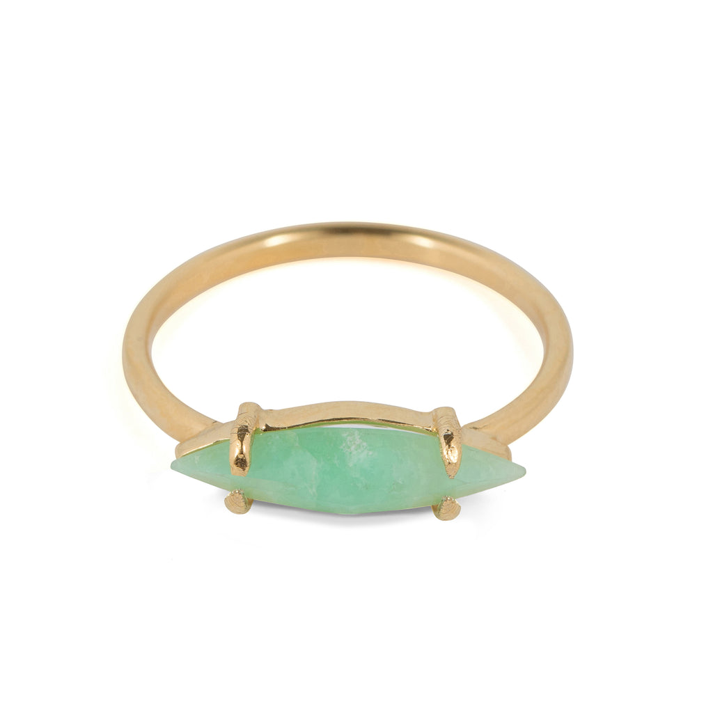 Delicate Ring with Chrysoprase