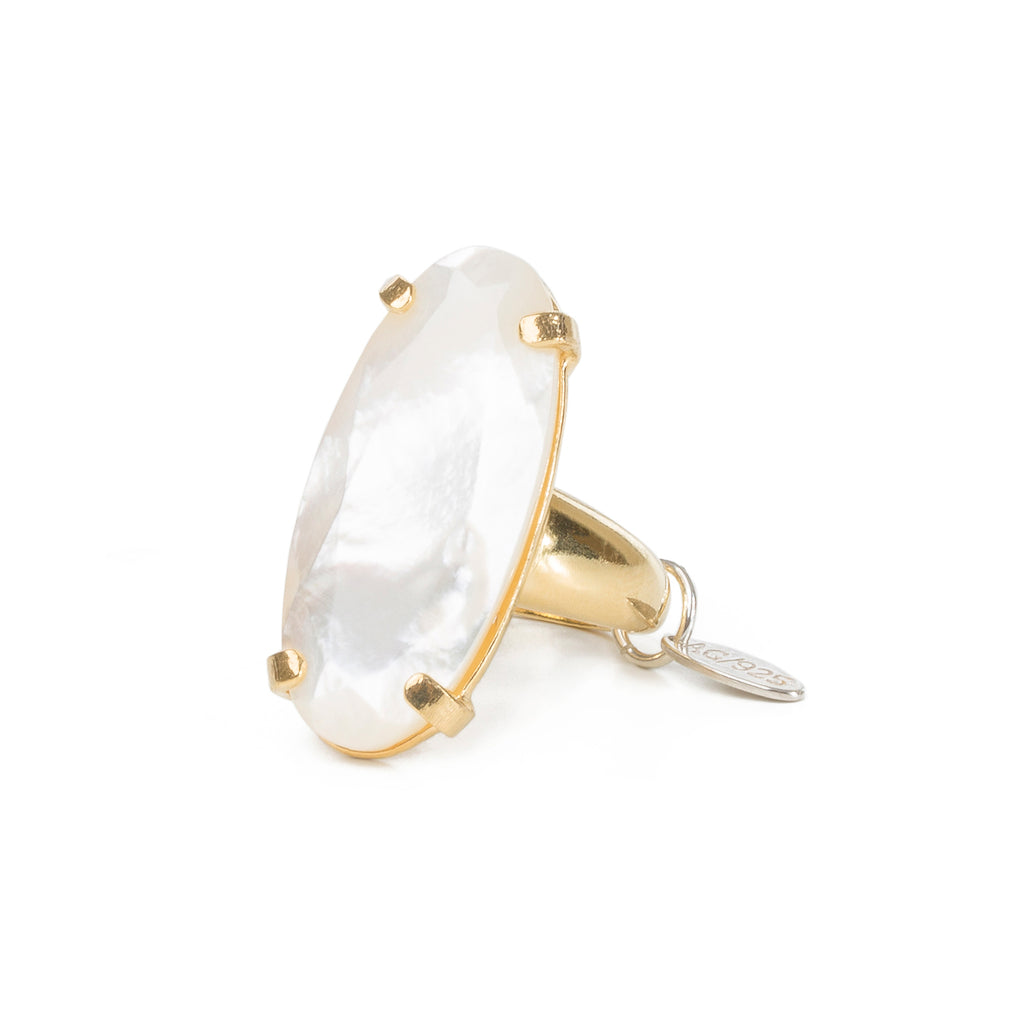 Statement Ring with Mother of Pearl