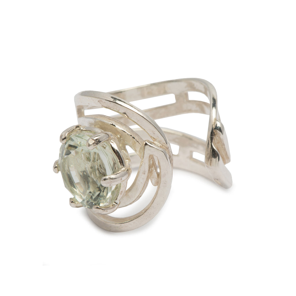 Green crystal gap Ring