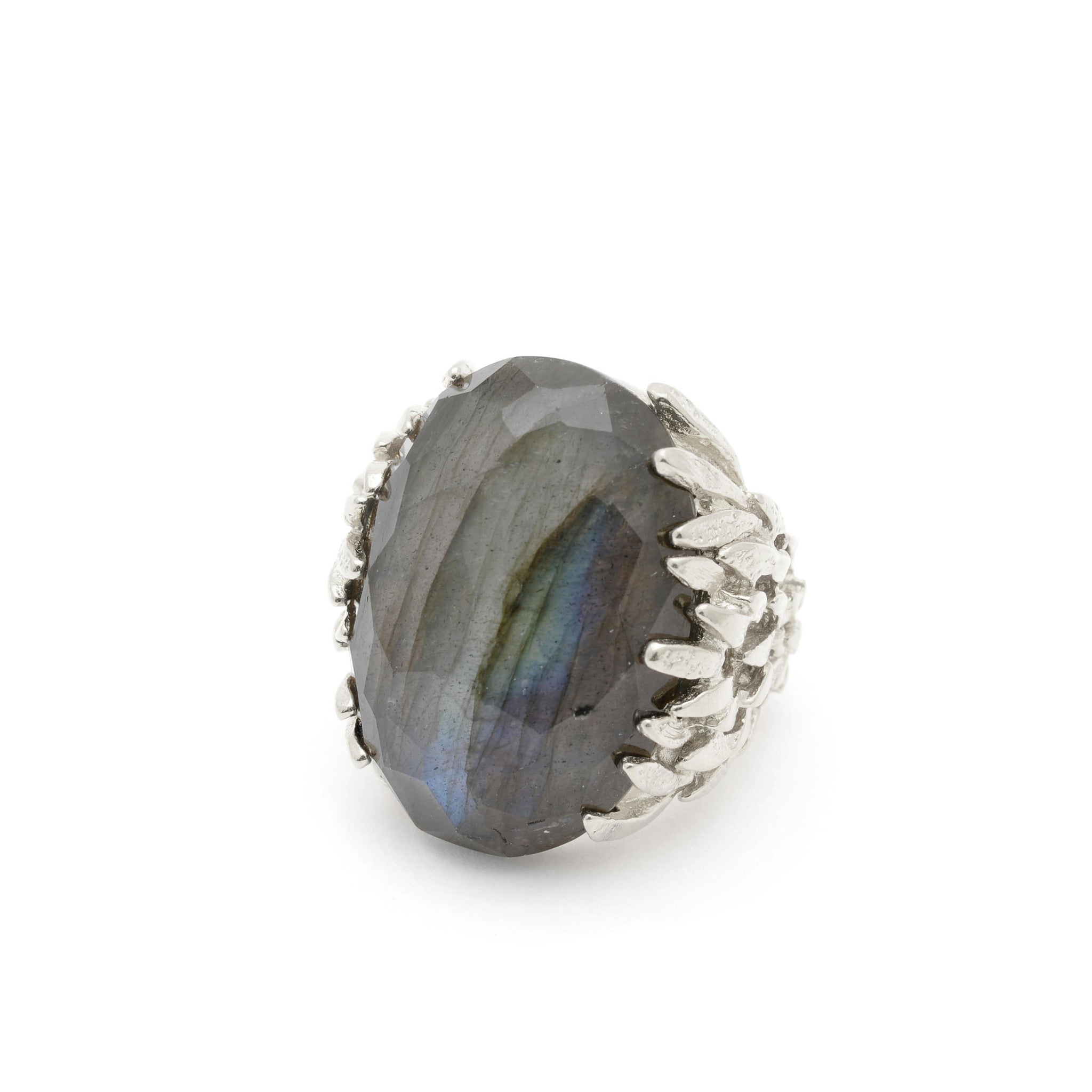 Sterling Silver statement ring with Labradorite