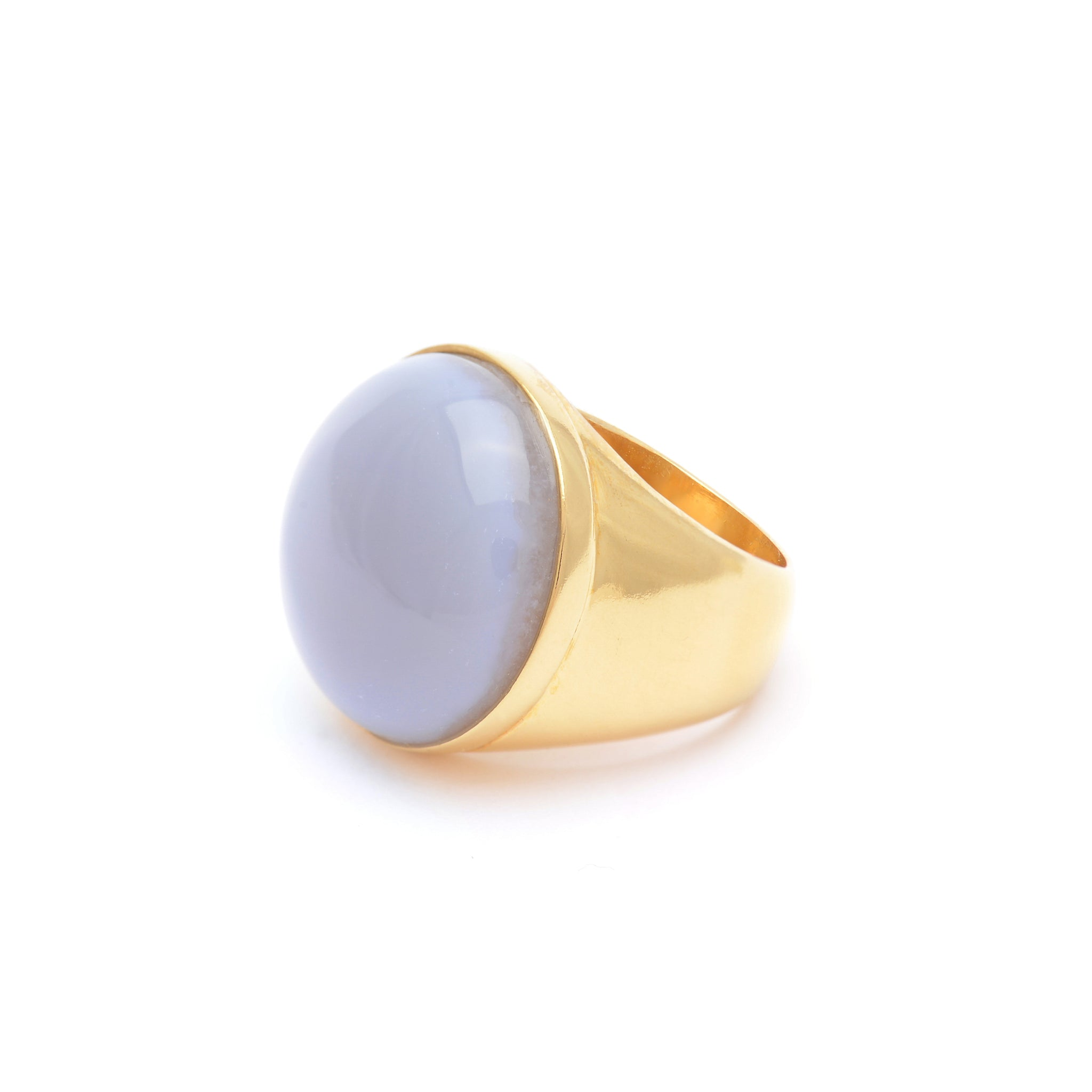 Sterling silver Ring with blue Chalcedony stone