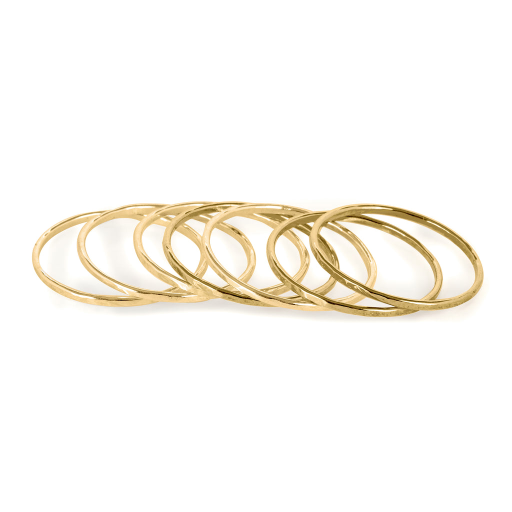 Set of seven stacked fine Rings