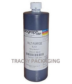 Diagraph Multi-Purpose Black Stencil Ink - Quart 0592-002 0592002