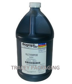 Diagraph Multi-Purpose Black Stencil Ink - Gallon 0594-002