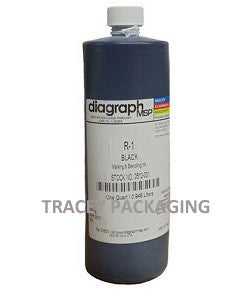 Diagraph R-1 Black Stencil Ink - Quart 0512-001