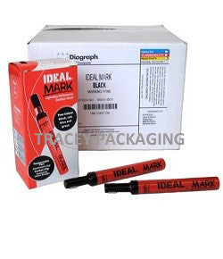 Diagraph Ideal Mark Markers - Black 0930-001 Case 0930001