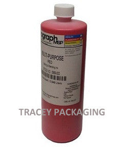 Diagraph Multi-Purpose Red Stencil Ink - Quart 0569-002 0569002