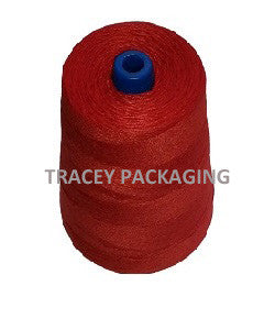 Bag Closing Red Thread 8 oz cone - Per Cone