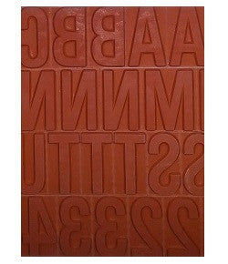 Ribtype Rubber Type Letter & Number Set TU78