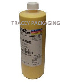 Diagraph Multi-Purpose Yellow Stencil Ink - Quart 0572-002