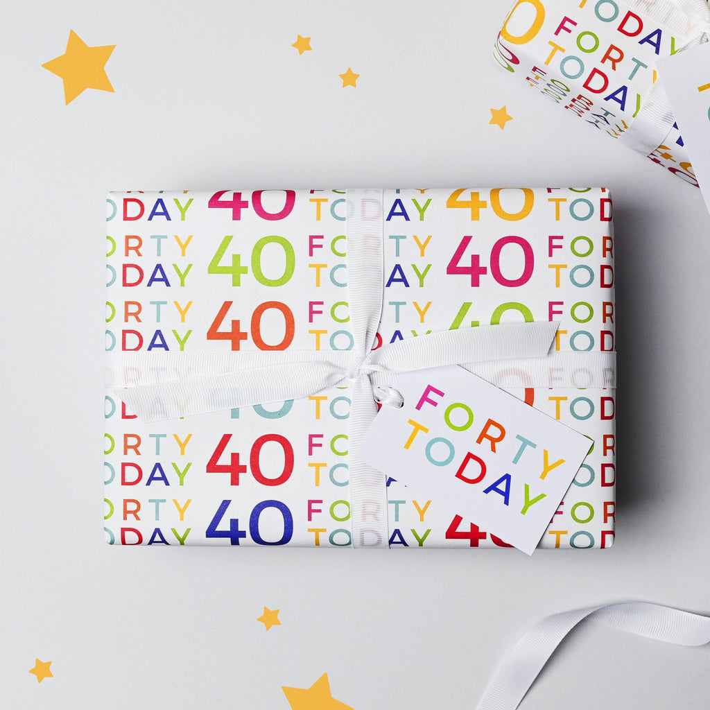 40 Today Wrapping Paper Set