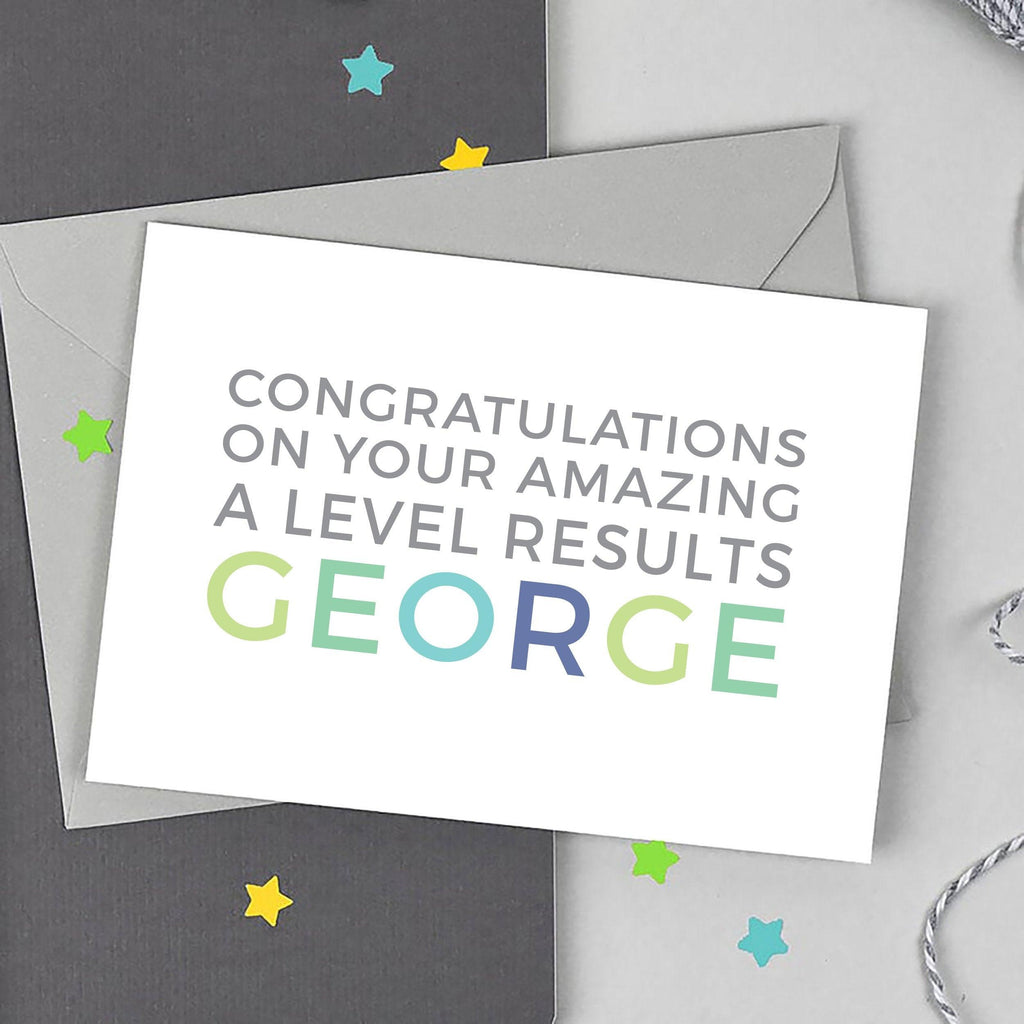 Personalised 'Amazing A Levels' Card - Studio 9 Ltd