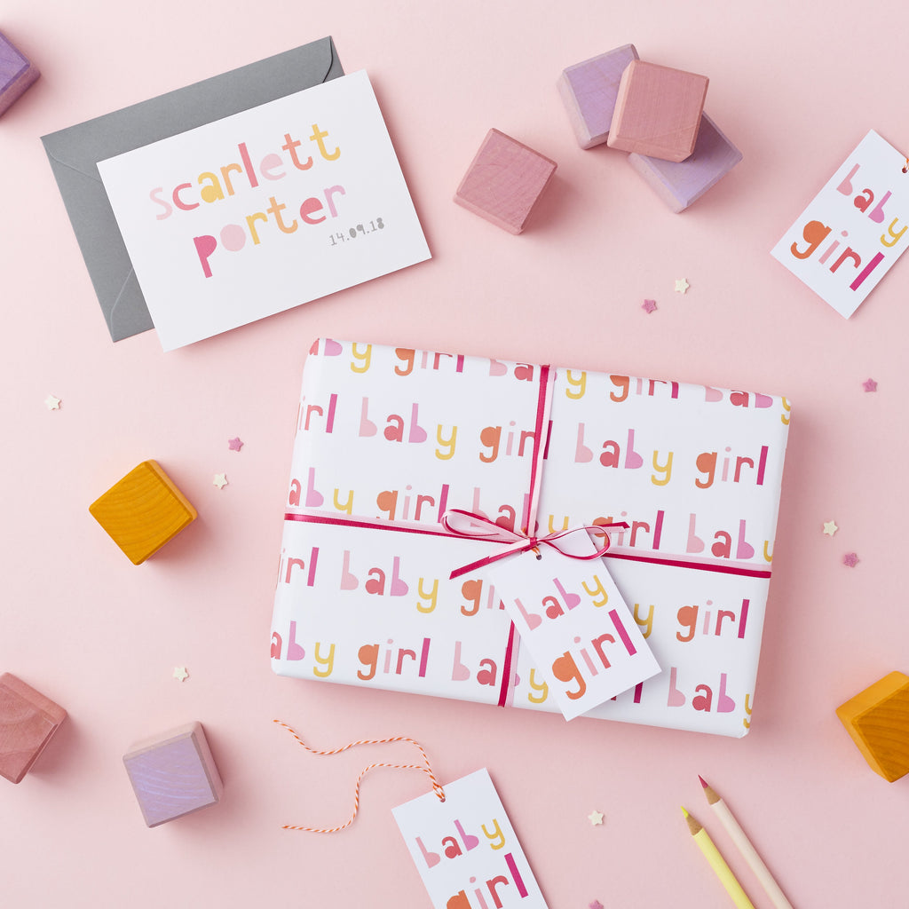 Baby Girl Wrapping Paper Set - Studio 9 Ltd