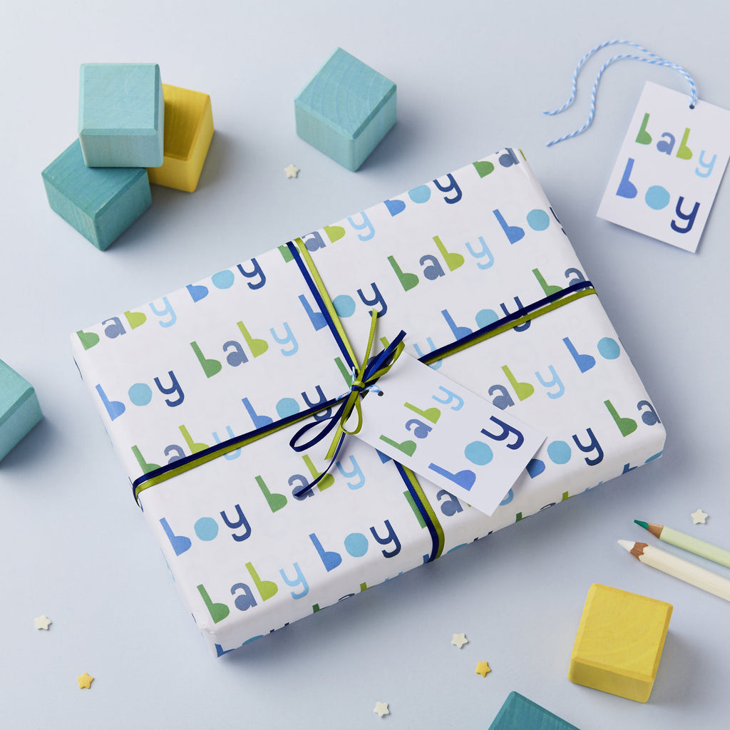 Baby Boy Wrapping Paper Set - Studio 9 Ltd