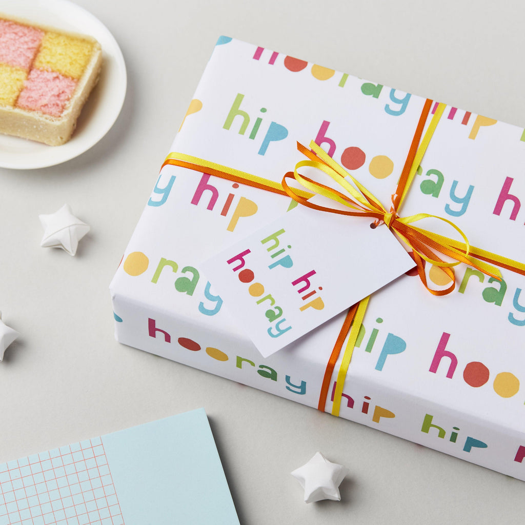 Hip Hip Hooray Birthday Wrapping Paper Set - Studio 9 Ltd