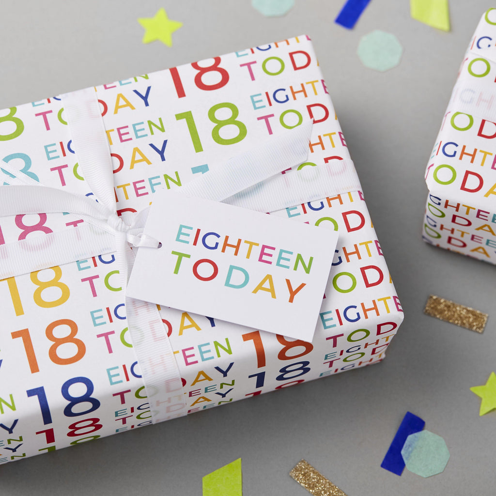 18th Birthday Wrapping Paper Set - Studio 9 Ltd