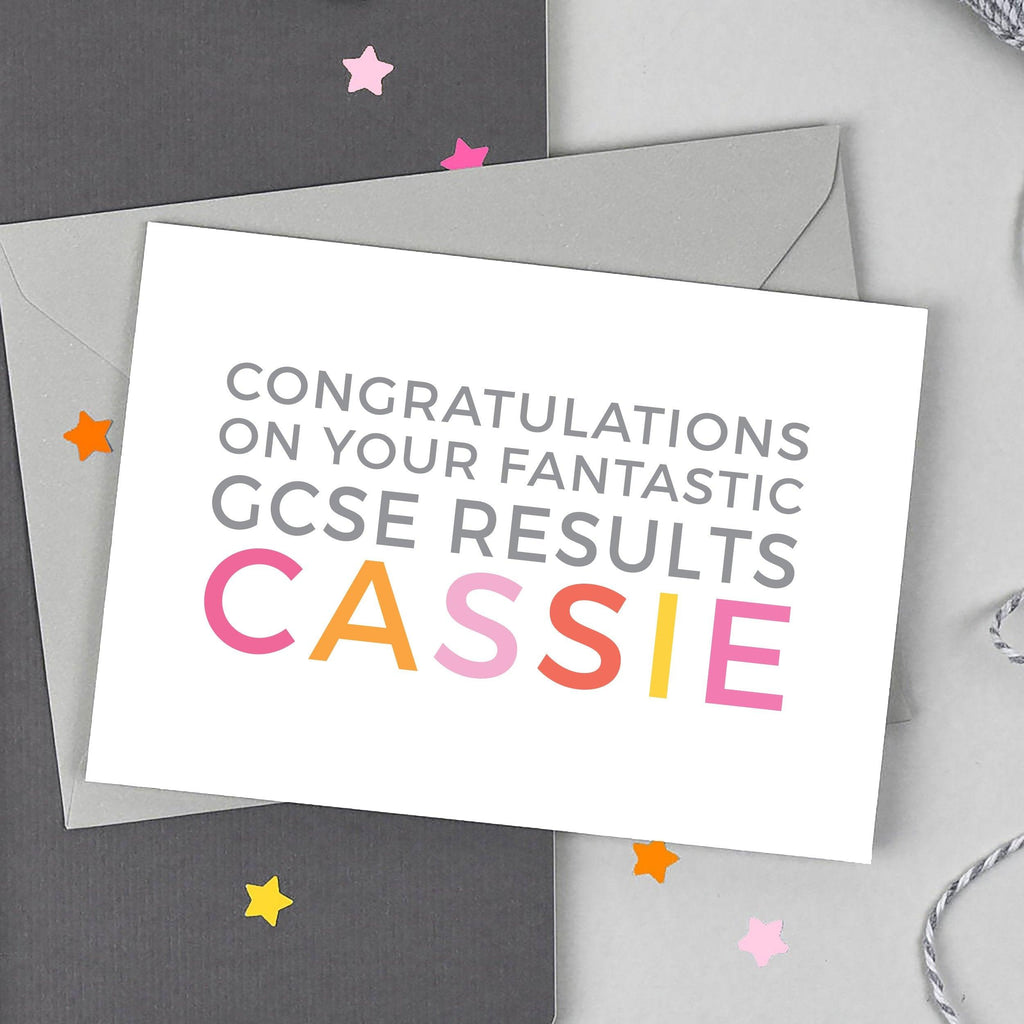 Personalised 'Fantastic GCSEs' Card - Studio 9 Ltd