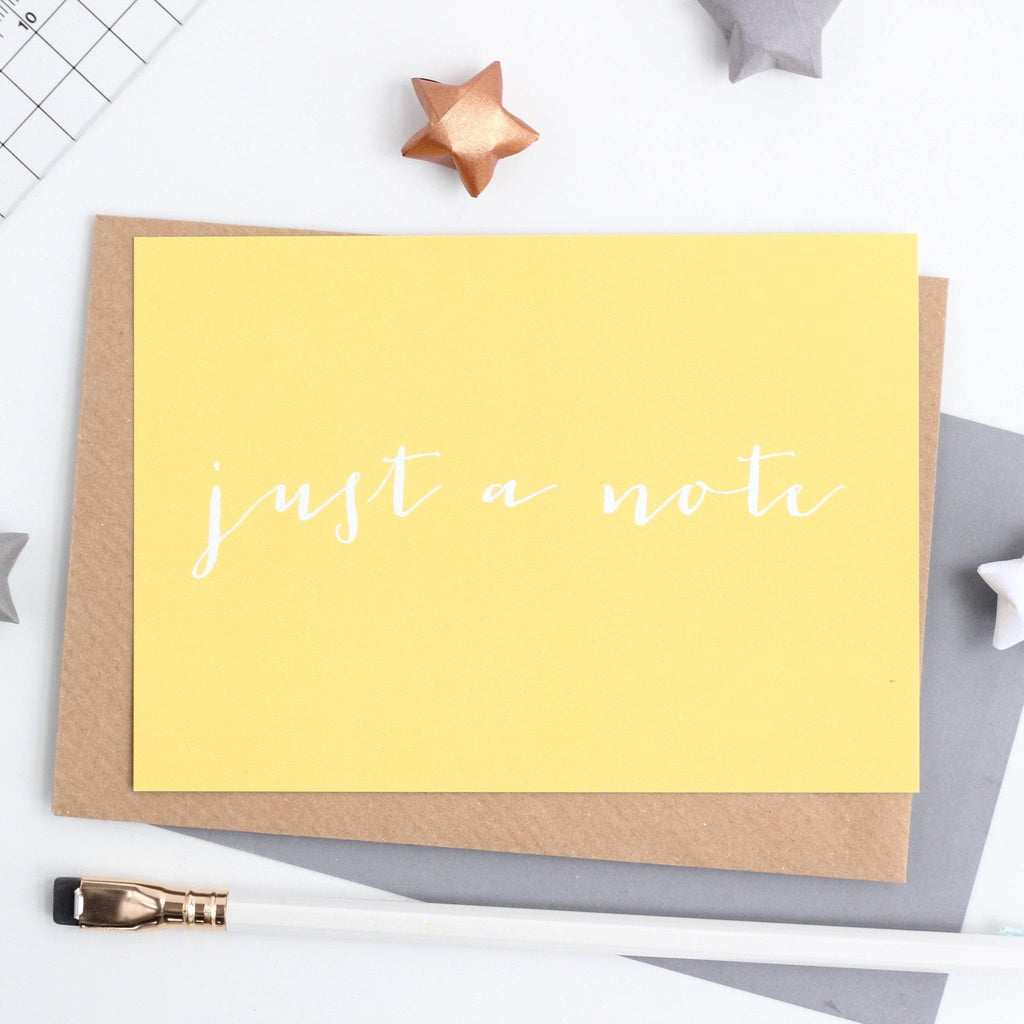 'Just a Note' Notecard - Studio 9 Ltd