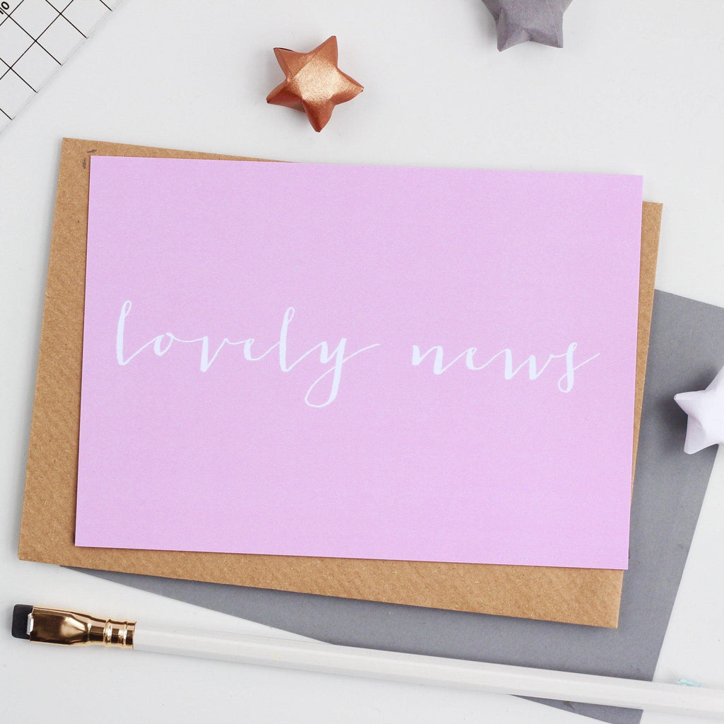 'Lovely News' Notecard