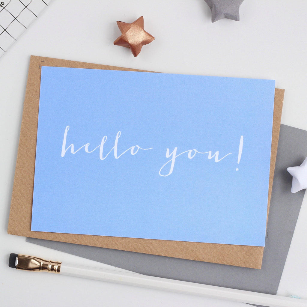 'Hello You' Notecard - Studio 9 Ltd