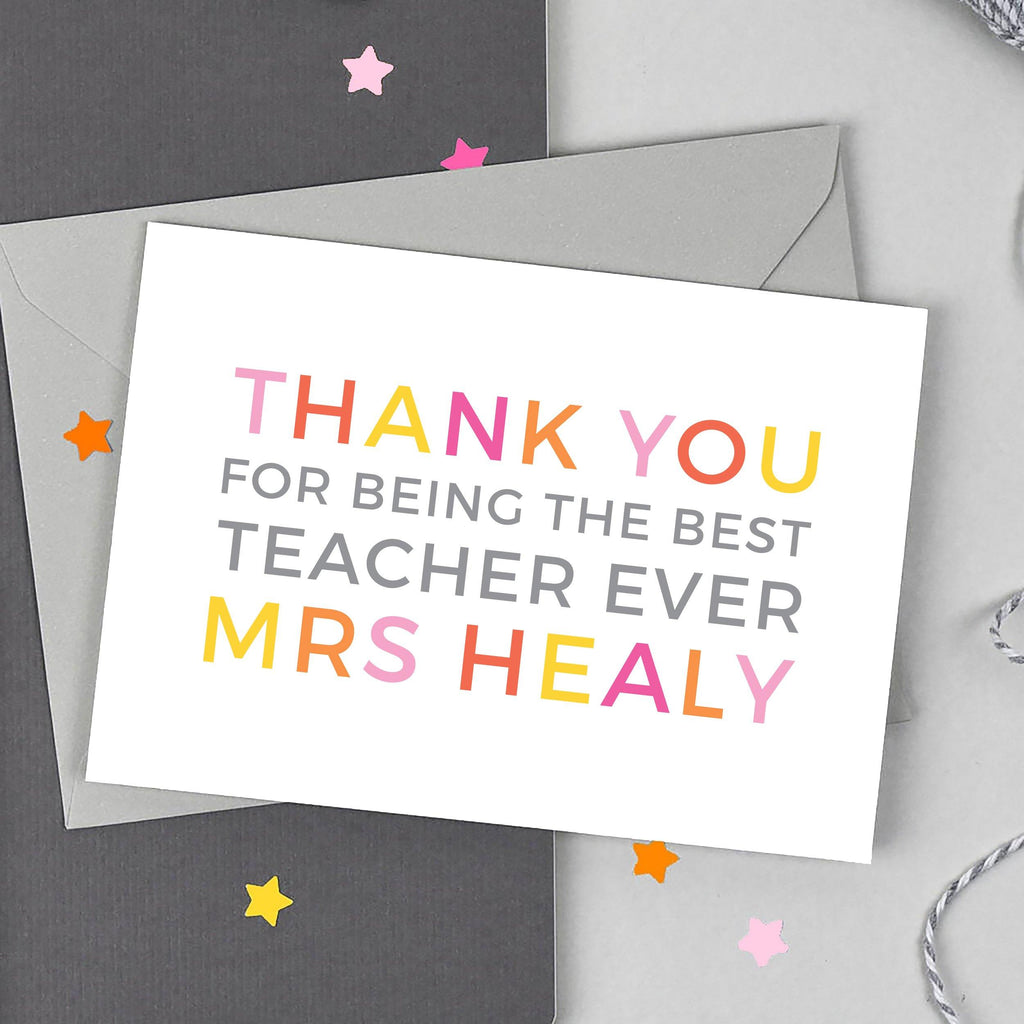 'Thank You' Teacher Card - Studio 9 Ltd