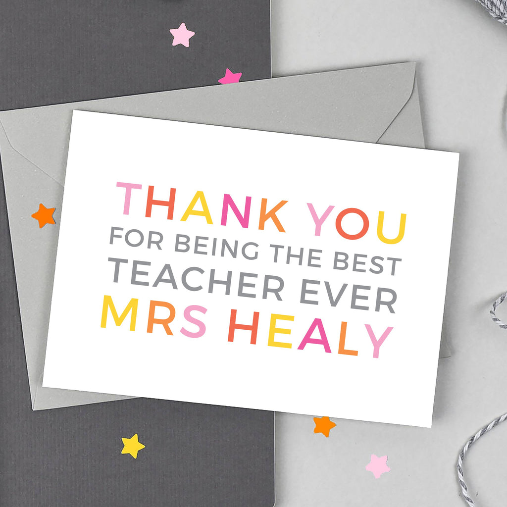 Personalised 'Thank You' Teaching Assistant Card - Studio 9 Ltd