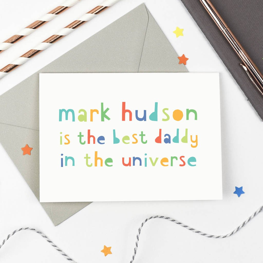 Personalised 'Best Daddy' Card