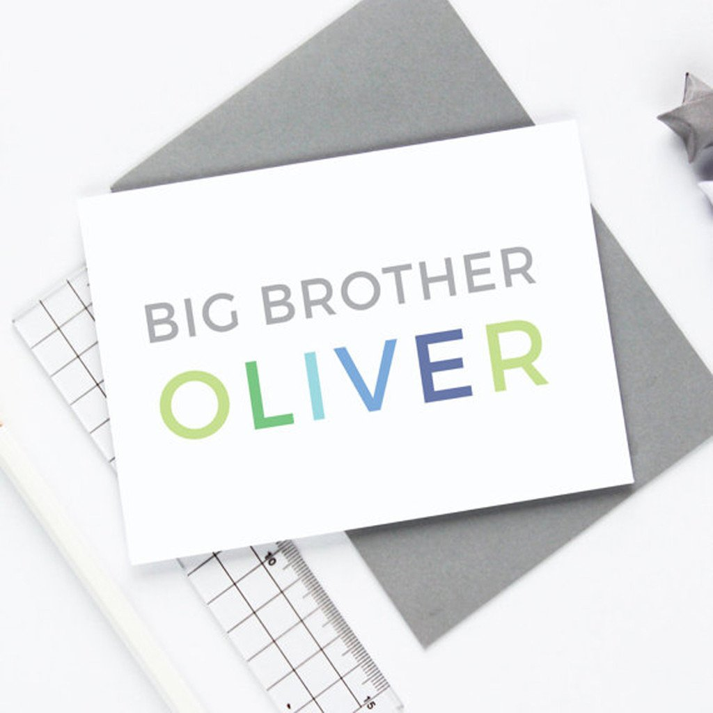 Personalised Big Brother Card