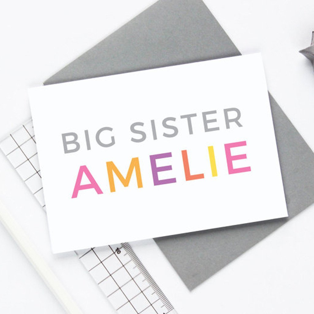 Personalised Big Sister Card