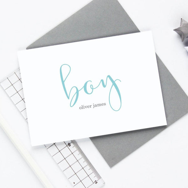 Personalised Boy Card
