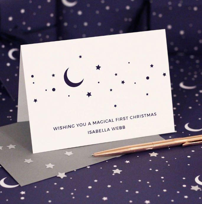 Personalised Magical First Christmas Card