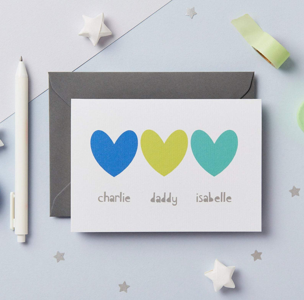 Personalised Siblings Father's Day Card - Studio 9 Ltd