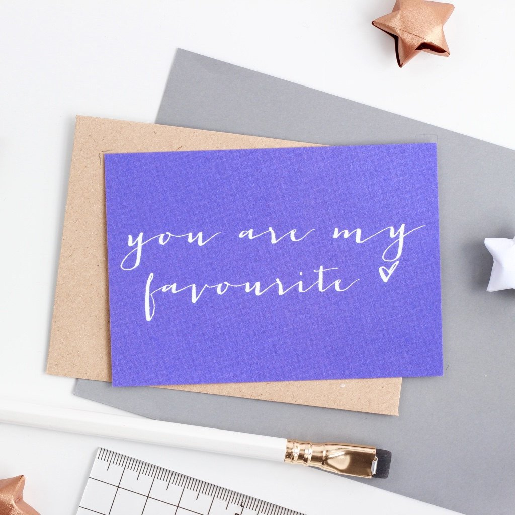 Mini Love Note  - You Are My Favourite
