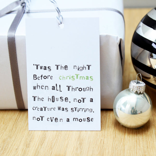 Twas The Night... Christmas Gift Tags