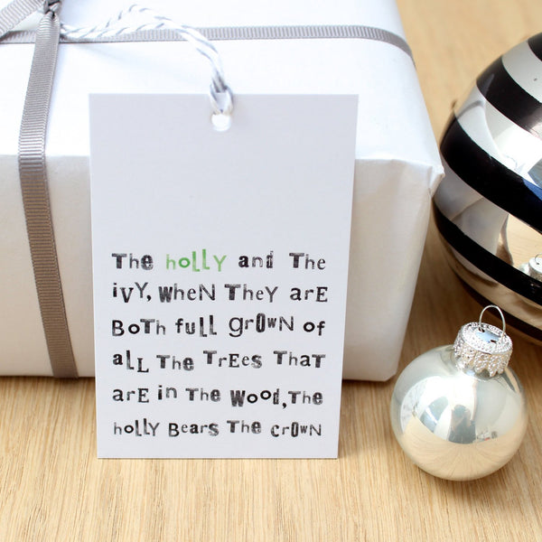 The Holly & The Ivy... Christmas Gift Tags