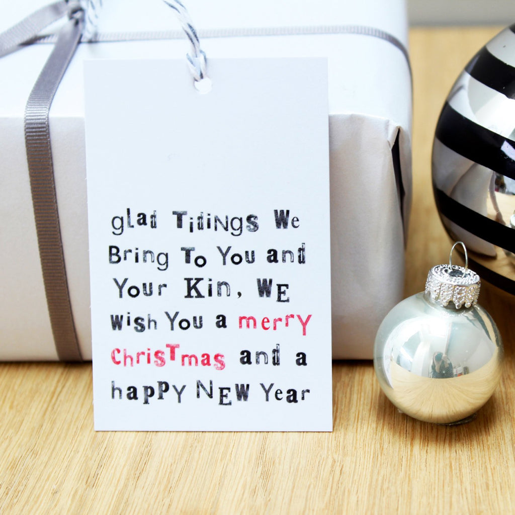 Glad Tidings We Bring... Christmas Gift Tags - Studio 9 Ltd