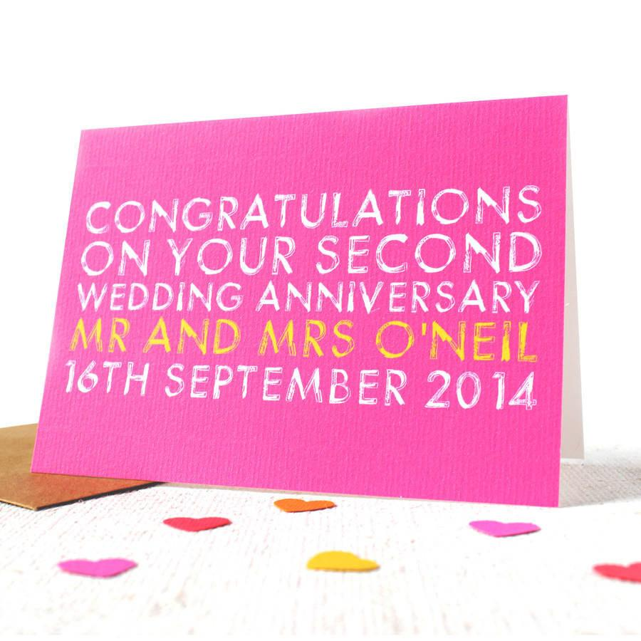Personalised Wedding Anniversary Card - Studio 9 Ltd