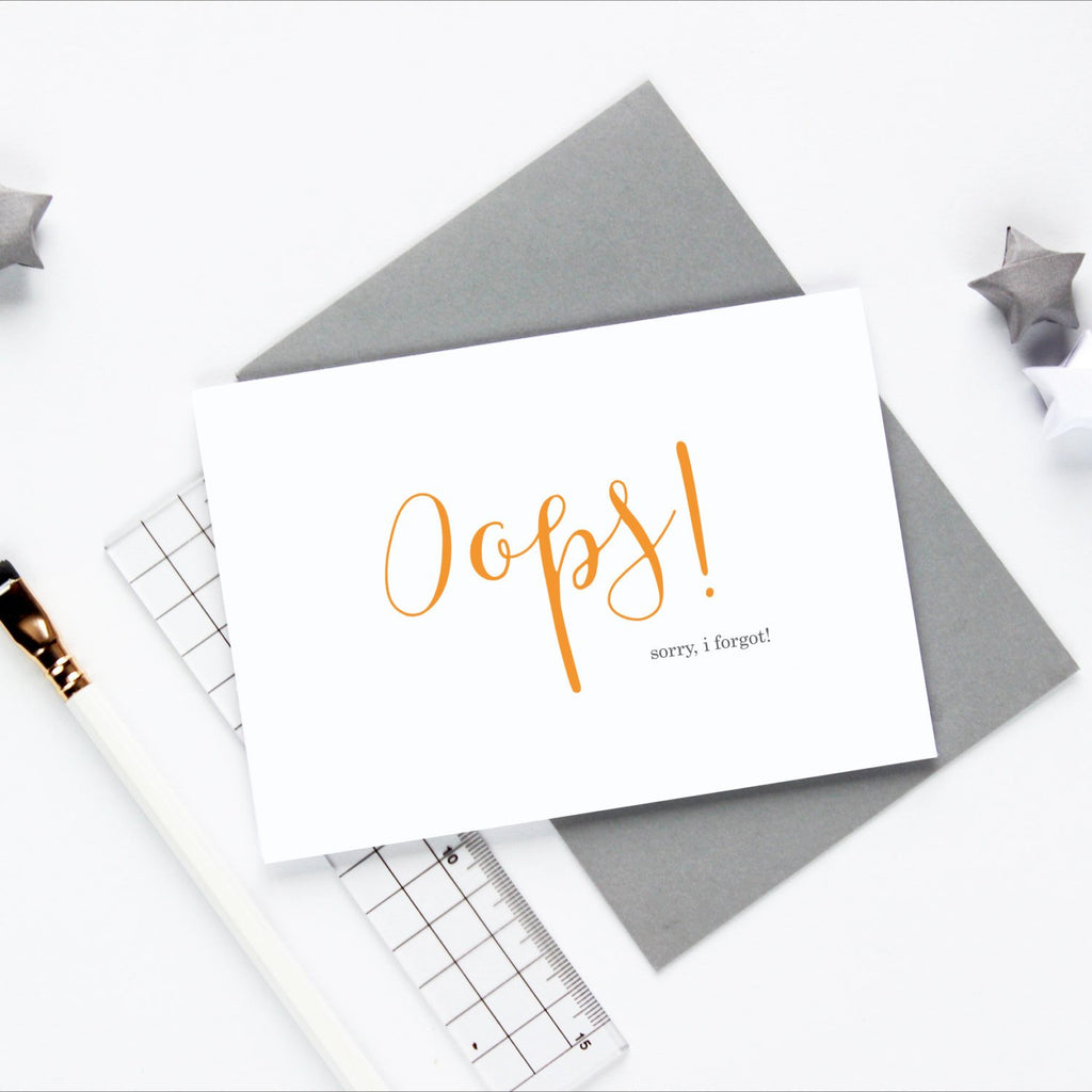 Oops! I Forgot! Greetings Card - Studio 9 Ltd