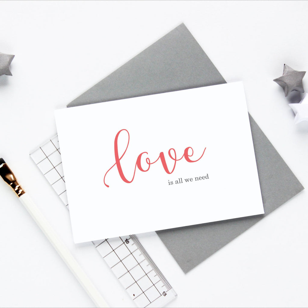 Love is all we need greetings card