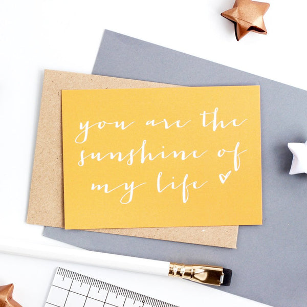 Mini Love Note  - Sunshine of my Life