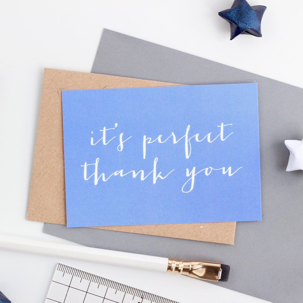 Mini Thank You - It's Perfect... - Studio 9 Ltd