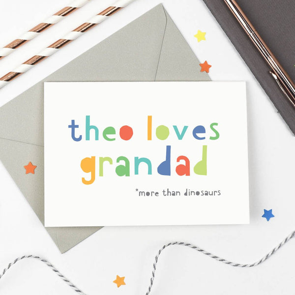 Personalised 'Loves Grandad' Card