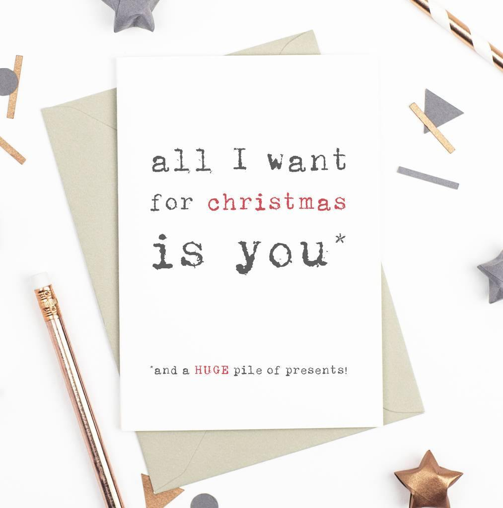 'All I Want for Christmas' Christmas Card - Studio 9 Ltd