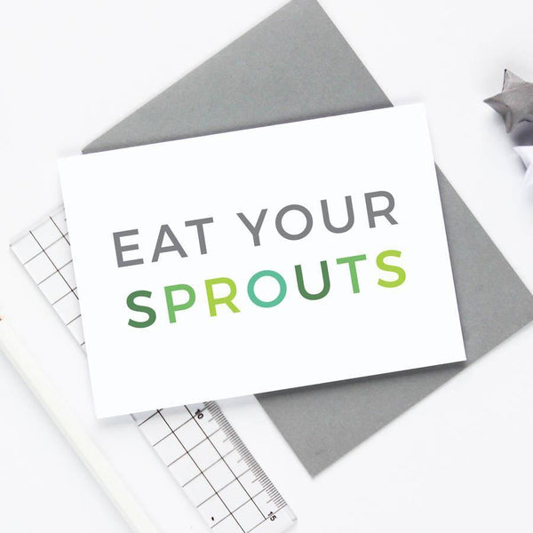 Eat Your Sprouts Christmas Card