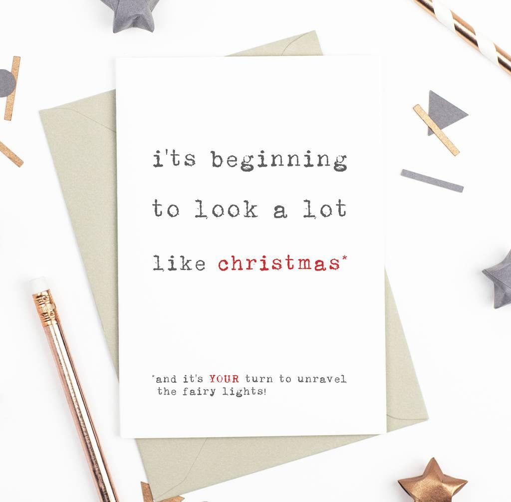 'A Lot Like Christmas' Christmas Card - Studio 9 Ltd