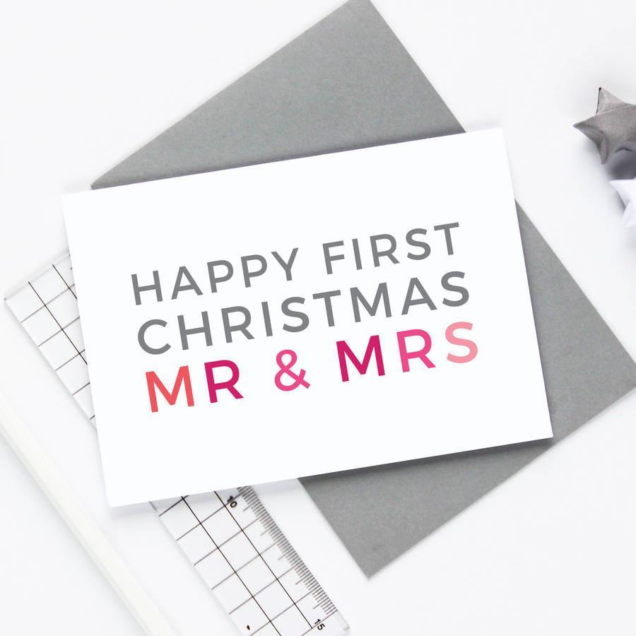 Newly-weds 1st Christmas Card
