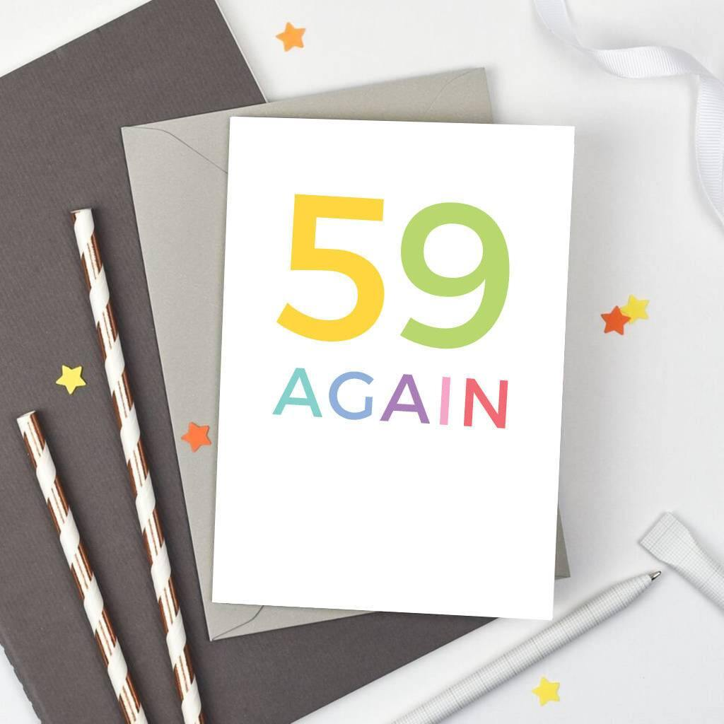 '59 Again' Birthday Card