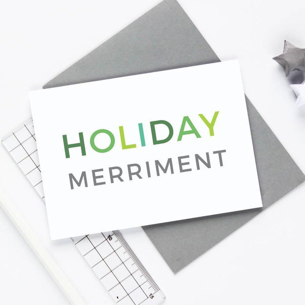 Holiday Merriment Christmas Card
