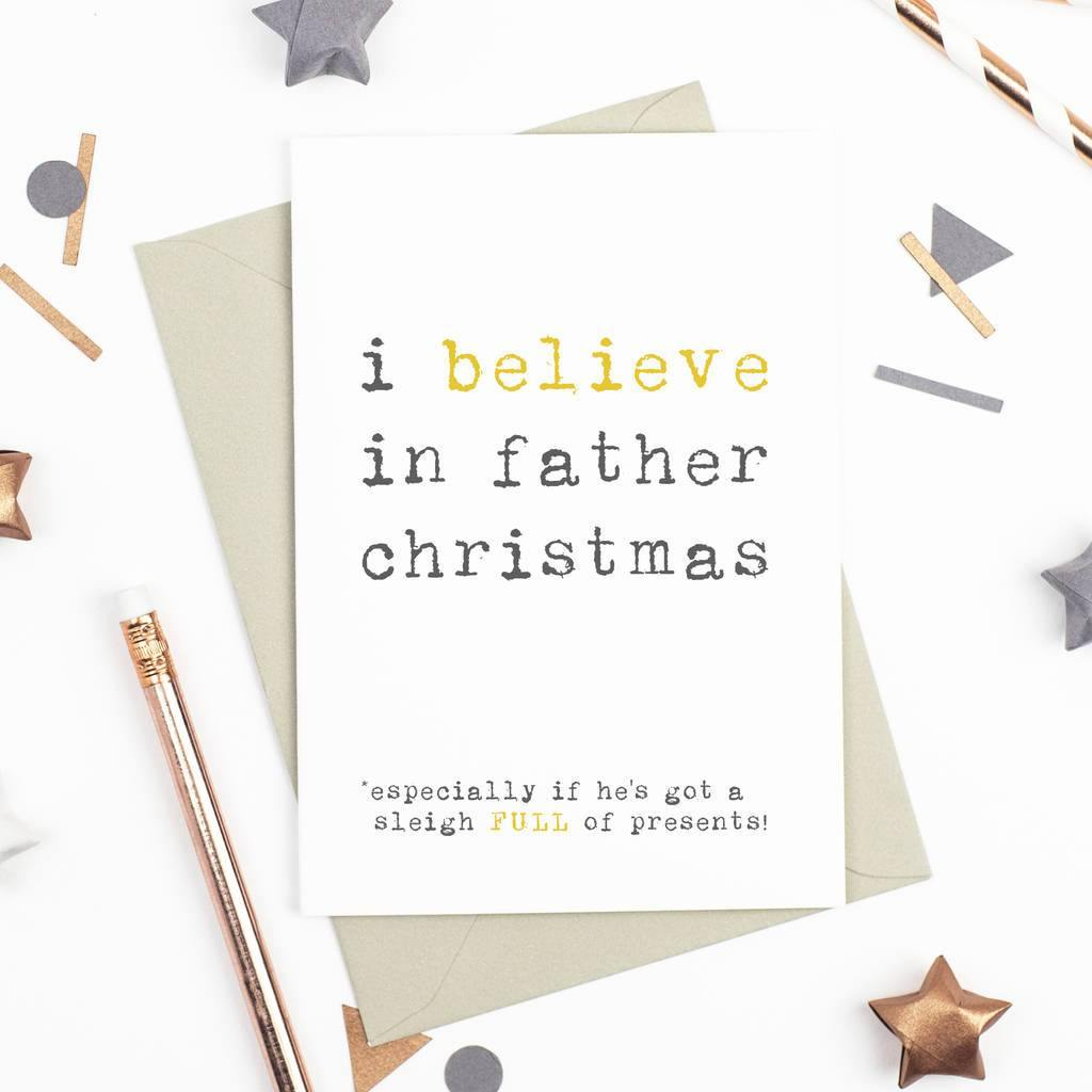 'I Believe' Christmas Card